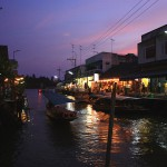 Reflections on the river of Amphawa floating market_2
