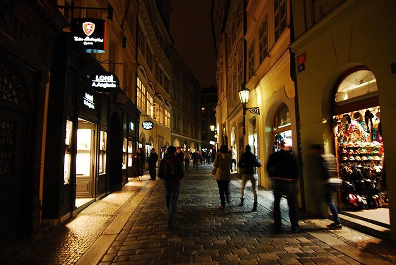 Street in Czech Republic Prague