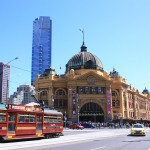 Symbolic view of Melbourne_ with Flinders Street station and Eureka tower_mini