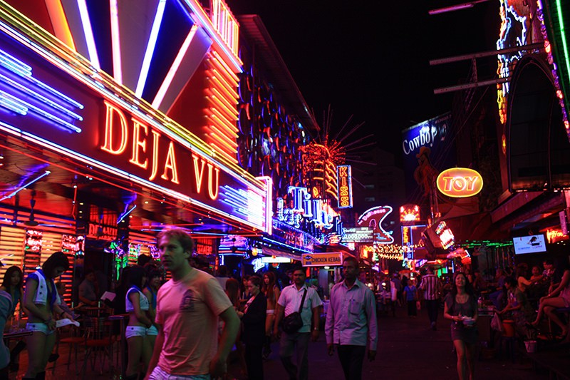 The street is filled by vivid colors Thailand Bankok