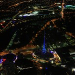 View from Eureka Skydeck_Iconic lightings are provided with color lighting