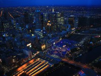 View from Eureka Skydeck_Nightscape of the city lights differentiate the business area and the surrounding local area_mini