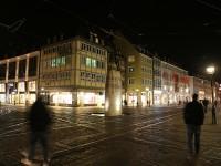 Freiburg City_Intersection  at Kaiser-Joseph Str_Bad lighting for Monument_mini