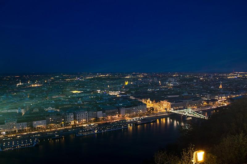 ブタペスト俯瞰夜景