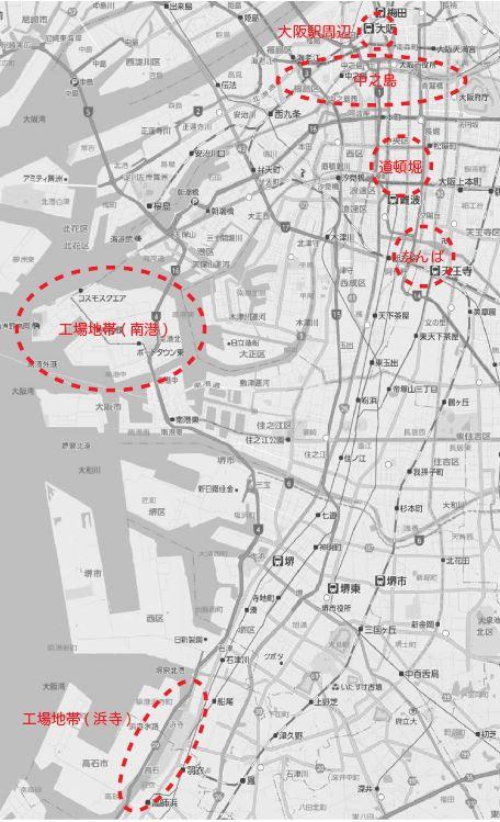 大阪map_モノクロ