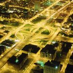 00160180_USA_Chicago_Nightview from Sears Tower_199506