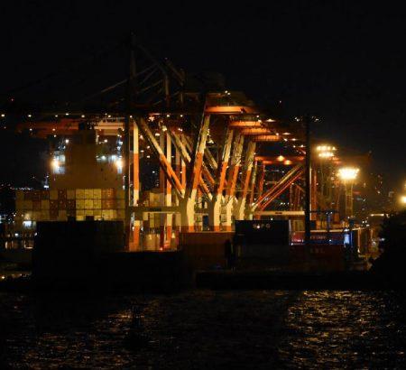 Ohi wharf in Tokyo Bay
