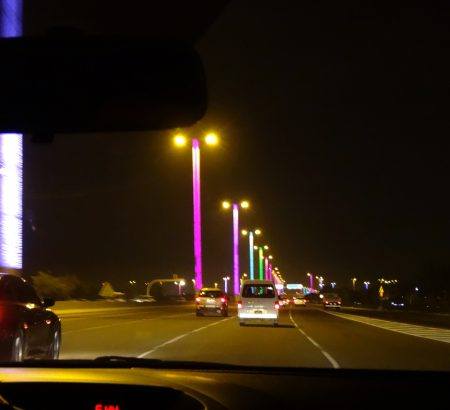 Street around Hamad International Airport, Qatar