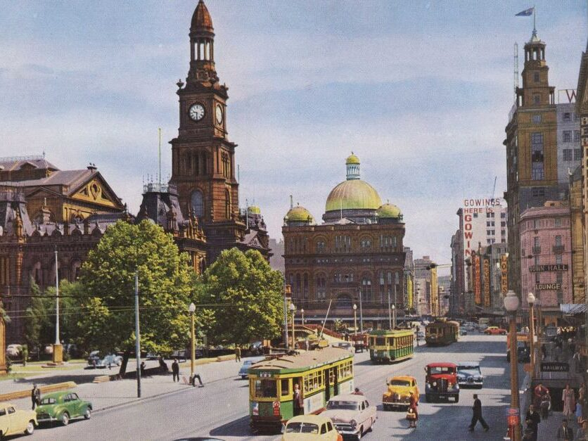 image by Sydney Tramway Museum Sydney in 1950s