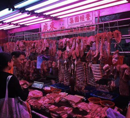 香港にあったとある肉屋。