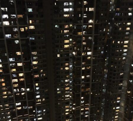 香港の住宅のあかり