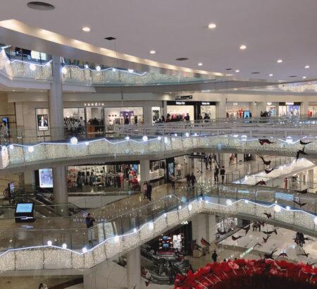 Christmas Illumination in Shopping Mall